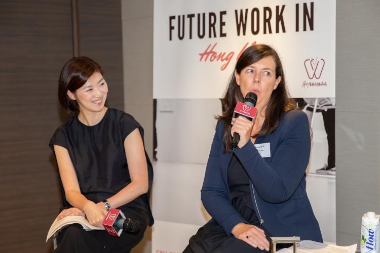 4. TWF CEO Fiona Nott and Legistlative Council Eunice Yung shared their own thoughts 婦女基金會行政總裁 樂鳳蘭及 香港立法會議員 容海恩女士分享意見.jpg